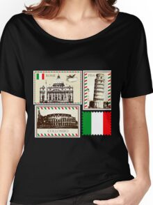 Italy Symbols Women's Relaxed Fit T-Shirt