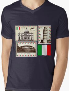 Italy Symbols Mens V-Neck T-Shirt