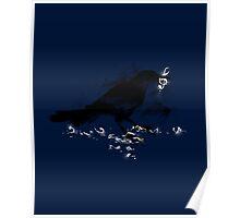 Broken String - Dark Blue Poster