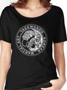 taekwondo beast dragon tiger korean martial art sport kick dark or black shirt  Women's Relaxed Fit T-Shirt