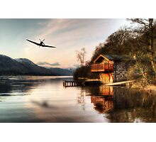 Lakeside Spitfire Photographic Print