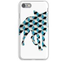 Geometric Blocks Fox iPhone Case/Skin