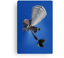 Squeezed Los Angeles Highrise Palm Tree Abstract Canvas Print