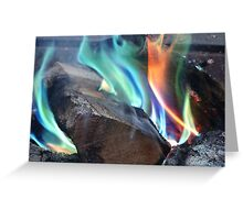 Dance Into The Fire Greeting Card