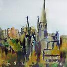 St Patrick's Cathedral, Melbourne, Australia by Margaret Morgan (Watkins)