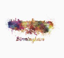 Birmingham skyline in watercolor Kids Clothes