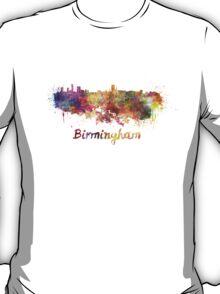 Birmingham skyline in watercolor T-Shirt