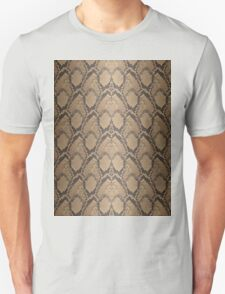 Golden Brown Python Snake Skin Reptile Scales Unisex T-Shirt