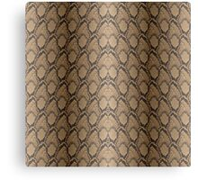 Golden Brown Python Snake Skin Reptile Scales Canvas Print