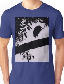 Heron Perched Unisex T-Shirt