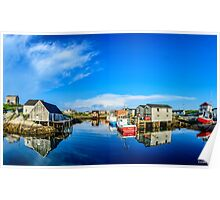 Calm Water at Peggys Cove Poster