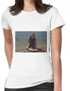 KNEE BOARDING3 Womens Fitted T-Shirt