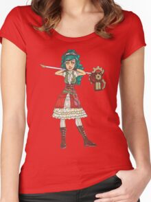 Steam Punk Gun Lancer Women's Fitted Scoop T-Shirt