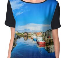 Calm Water at Peggys Cove Chiffon Top