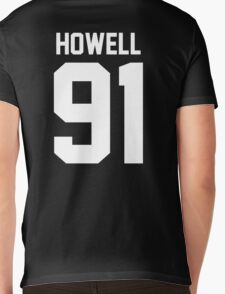 Howell 91 White Mens V-Neck T-Shirt