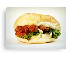 Chicken burger Canvas Print
