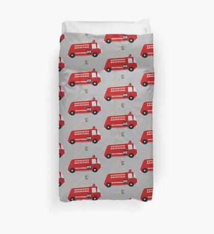 Unique red firetruck design Duvet Cover