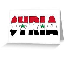 Syria Greeting Card