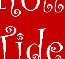 Red Alabama State Outline - Roll Tide! Sticker
