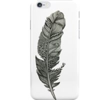 fancy patterned feather iPhone Case/Skin