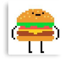 hamburger pixel Canvas Print