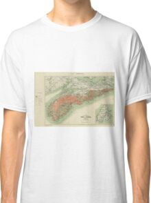 Vintage Geological Map of Nova Scotia (1906) Classic T-Shirt