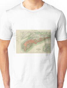 Vintage Geological Map of Nova Scotia (1906) Unisex T-Shirt