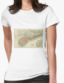 Vintage Geological Map of Nova Scotia (1906) Womens Fitted T-Shirt
