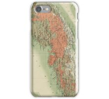 Vintage Geological Map of Nova Scotia (1906) iPhone Case/Skin