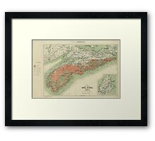 Vintage Geological Map of Nova Scotia (1906) Framed Print