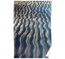 Curvy Lines of a Beach Kissed by Ocean Waves Poster