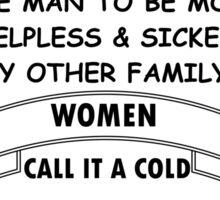 Man Flu Sticker