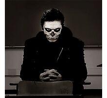 skeleton man Photographic Print