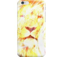 Lion fire abstract iPhone Case/Skin