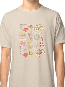 Cartoon traveling elements Classic T-Shirt