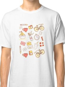 Cartoon traveling elements Classic T-Shirt