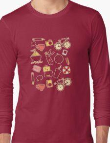 Cartoon traveling elements Long Sleeve T-Shirt
