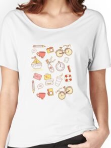 Cartoon traveling elements Women's Relaxed Fit T-Shirt