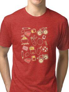 Cartoon traveling elements Tri-blend T-Shirt