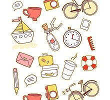 Cartoon traveling elements by olarty