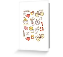 Cartoon traveling elements Greeting Card