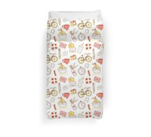 Cartoon traveling elements Duvet Cover