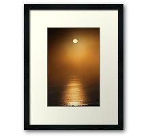 The Lifegiving Sun Sneaks Through the Coastal Northern California Fog Framed Print