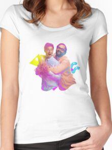 tim and eric awesome show (fixed/better) Women's Fitted Scoop T-Shirt
