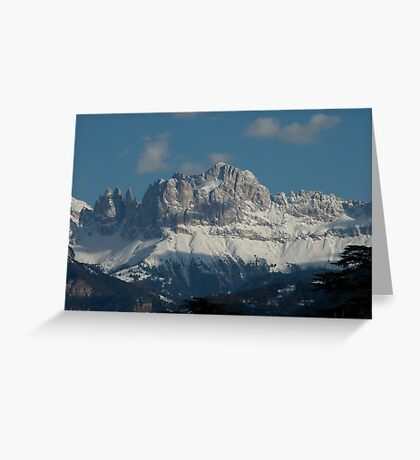 Snow on the Dolomites, Bolzano/Bozen, Italy Greeting Card