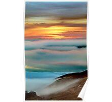 Mystical Surreal Fog over Bodega, Sonoma County, California Poster