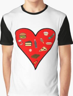 Cool Fast Food Hungry Fat Funny I Love Food Gift Graphic T-Shirt