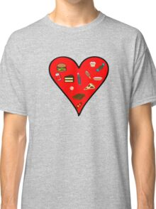 Heart filled with Food Classic T-Shirt