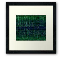 sci-fi wave Framed Print