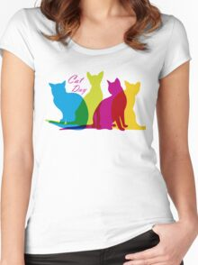 Cat day Women's Fitted Scoop T-Shirt